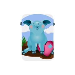 Pig Animal Love Apple Ipad Mini Protective Soft Cases by Nexatart