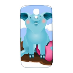 Pig Animal Love Samsung Galaxy S4 I9500/i9505  Hardshell Back Case by Nexatart