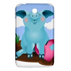 Pig Animal Love Samsung Galaxy Tab 3 (7 ) P3200 Hardshell Case  by Nexatart