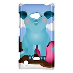 Pig Animal Love Nokia Lumia 720 by Nexatart
