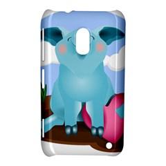Pig Animal Love Nokia Lumia 620 by Nexatart