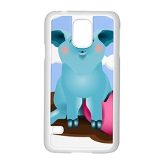 Pig Animal Love Samsung Galaxy S5 Case (white) by Nexatart