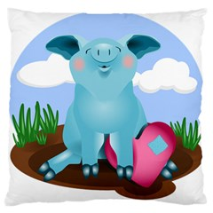 Pig Animal Love Standard Flano Cushion Case (two Sides) by Nexatart