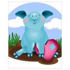 Pig Animal Love Drawstring Bag (small)