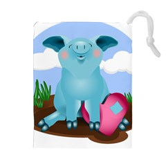Pig Animal Love Drawstring Pouches (extra Large)