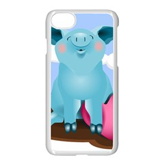 Pig Animal Love Apple Iphone 7 Seamless Case (white) by Nexatart