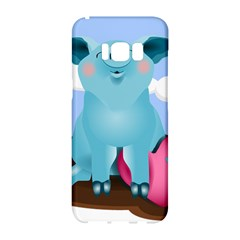 Pig Animal Love Samsung Galaxy S8 Hardshell Case  by Nexatart
