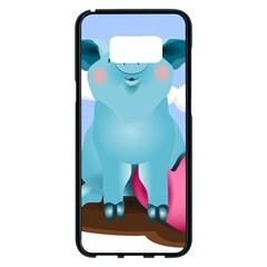 Pig Animal Love Samsung Galaxy S8 Plus Black Seamless Case by Nexatart