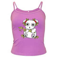 Panda China Chinese Furry Dark Spaghetti Tank