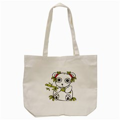 Panda China Chinese Furry Tote Bag (cream)