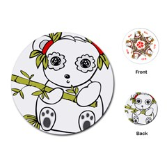 Panda China Chinese Furry Playing Cards (round)  by Nexatart