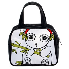 Panda China Chinese Furry Classic Handbags (2 Sides) by Nexatart