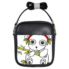 Panda China Chinese Furry Girls Sling Bags by Nexatart