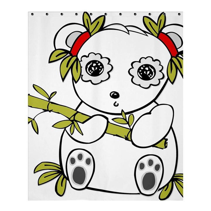 Panda China Chinese Furry Shower Curtain 60  x 72  (Medium)