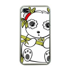 Panda China Chinese Furry Apple Iphone 4 Case (clear)