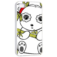 Panda China Chinese Furry Apple Iphone 4/4s Seamless Case (white)