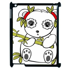 Panda China Chinese Furry Apple Ipad 2 Case (black) by Nexatart