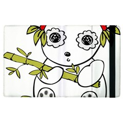 Panda China Chinese Furry Apple Ipad 3/4 Flip Case by Nexatart