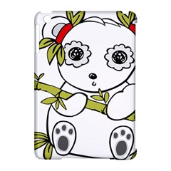Panda China Chinese Furry Apple Ipad Mini Hardshell Case (compatible With Smart Cover) by Nexatart