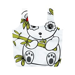 Panda China Chinese Furry Full Print Recycle Bags (m)
