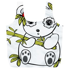 Panda China Chinese Furry Full Print Recycle Bags (l)