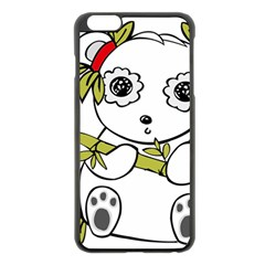 Panda China Chinese Furry Apple Iphone 6 Plus/6s Plus Black Enamel Case by Nexatart