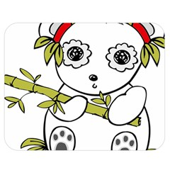 Panda China Chinese Furry Double Sided Flano Blanket (medium)