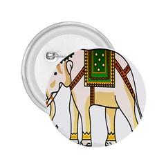 Elephant Indian Animal Design 2 25  Buttons by Nexatart