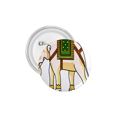 Elephant Indian Animal Design 1 75  Buttons