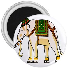 Elephant Indian Animal Design 3  Magnets