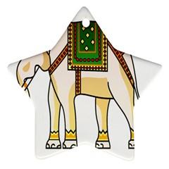 Elephant Indian Animal Design Ornament (star) by Nexatart
