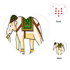 Elephant Indian Animal Design Playing Cards (heart)  by Nexatart