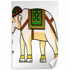 Elephant Indian Animal Design Canvas 12  X 18