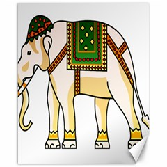 Elephant Indian Animal Design Canvas 16  X 20