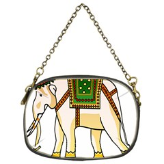 Elephant Indian Animal Design Chain Purses (one Side)  by Nexatart