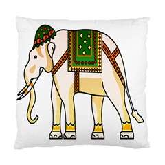 Elephant Indian Animal Design Standard Cushion Case (one Side)