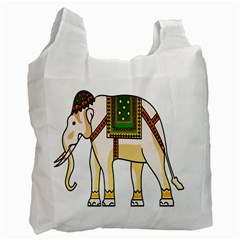 Elephant Indian Animal Design Recycle Bag (one Side)