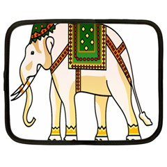 Elephant Indian Animal Design Netbook Case (xl)  by Nexatart