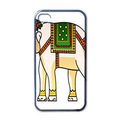 Elephant Indian Animal Design Apple Iphone 4 Case (black) by Nexatart