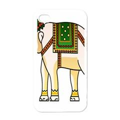 Elephant Indian Animal Design Apple Iphone 4 Case (white) by Nexatart