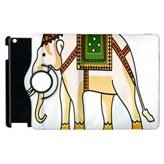 Elephant Indian Animal Design Apple Ipad 2 Flip 360 Case by Nexatart