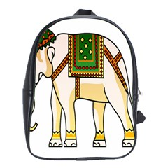 Elephant Indian Animal Design School Bag (xl) by Nexatart
