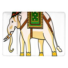 Elephant Indian Animal Design Samsung Galaxy Tab 10 1  P7500 Flip Case by Nexatart