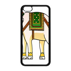 Elephant Indian Animal Design Apple Iphone 5c Seamless Case (black) by Nexatart