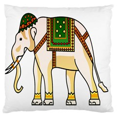 Elephant Indian Animal Design Standard Flano Cushion Case (one Side)