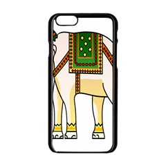 Elephant Indian Animal Design Apple Iphone 6/6s Black Enamel Case
