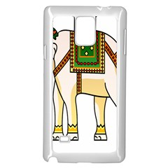 Elephant Indian Animal Design Samsung Galaxy Note 4 Case (white) by Nexatart