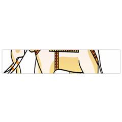 Elephant Indian Animal Design Flano Scarf (small) by Nexatart