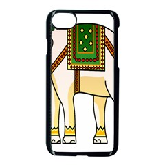 Elephant Indian Animal Design Apple Iphone 7 Seamless Case (black)