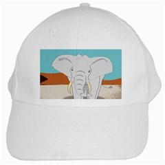 Africa Elephant Animals Animal White Cap by Nexatart